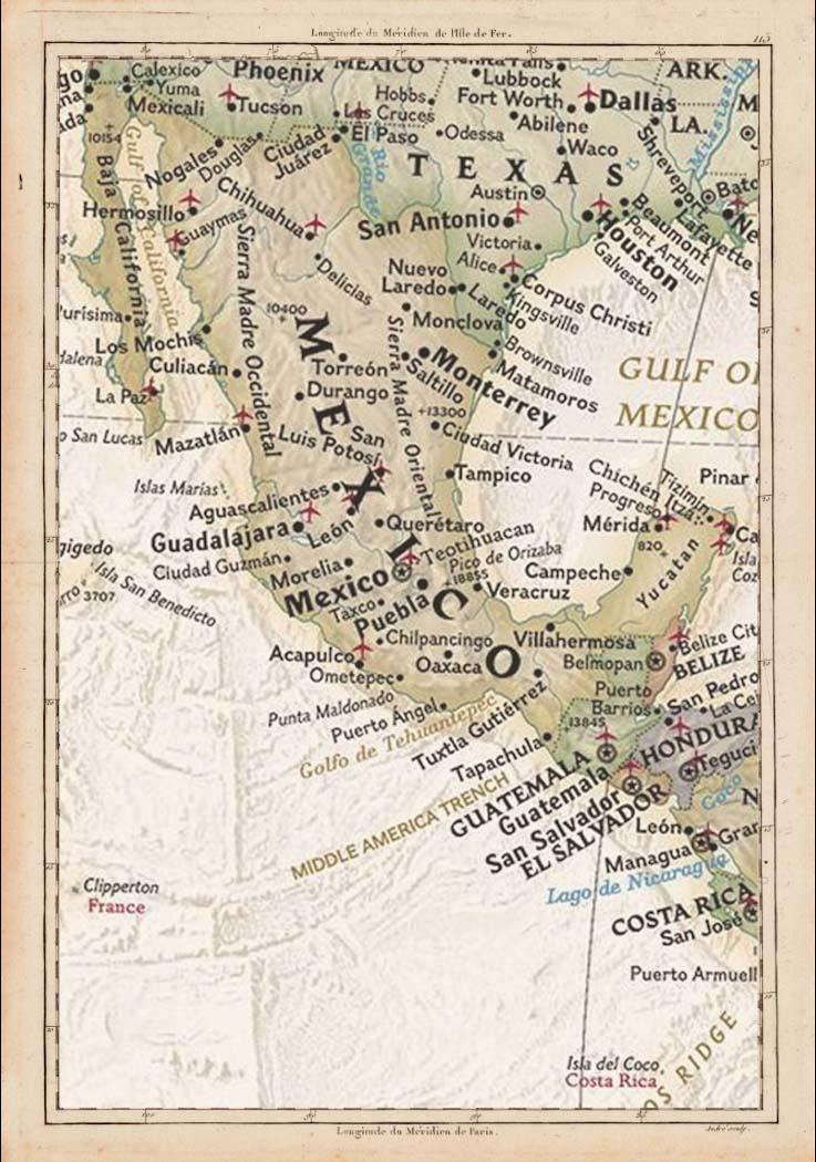 Carte du Mexique